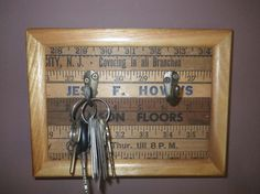 Hey, I found this really awesome Etsy listing at https://www.etsy.com/listing/480142259/re-purposed-frame-vintage-yardstick-key