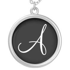 A Monogram Custom Round Sterling Silver Charm Jewelry