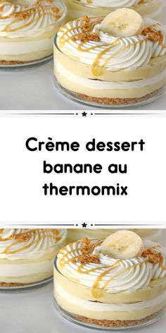 banana dessert cream with thermomix a delicious irresistible dessert you will love. Here is the thermomix recipe for this banana dessert cream. Desserts For A Crowd, Fancy Desserts, Best Dessert Recipes, Unique Recipes, Pumpkin Cheesecake Recipes, Pumpkin Recipes, Oreo Balls Recipe 3 Ingredients, Dessert Thermomix, Savoury Cake