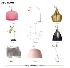 Emily Henderson- 37 favorite online lighting resources