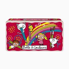Une adorable petite boîte pour dessiner et colorier!