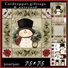 Cardtopper Snowman kisses 585 on Craftsuprint - View Now!