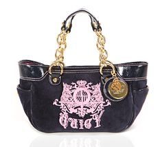 Juicy Couture Dark Blue Tote on glamouronthego.co.uk