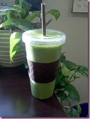 Paleo Green cantaloupe Smoothie:: 1 Frozen Banana, 1 C Almond Milk, 2 Cups Frozen Cantelope, 2 Handfulls Spinach, 1 tsp Vanilla