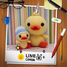 Little Duckling ~ My last crochet project for Year 2014 (Blessing to have duckling mama accompany)