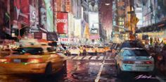 image of Evening Traffic at Time Square painting by Jian Wu