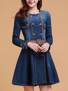 Blue Denim Vintage Dress