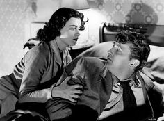 """""""Where Danger Lives"""" (1950) with Robert Mitchum and Faith Domergue."""
