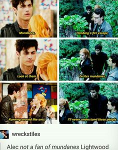 #TMI #shadowhunters | Alec Lightwood is not a fan of mundanes ft. Clary Fray and Simon Lewis