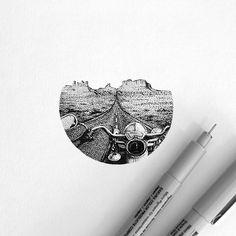 route66    #route66 #arizona #landscape #mountains #harleydavidson #black #drawing #dots #illustration #artwork #pen #paper #art_assistance #art_we_inspire #iblackwork #tattoodrawing #dotwork #dotworkers #pointillism #instagood #artsharing #simplycooldesign #artfido #thedotworkers #geometricworks #amandapiejak
