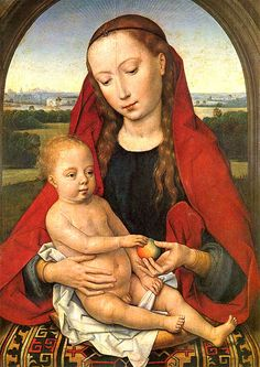 Hans Memling. Madonna and Child, ca. 1470s. Museu Nacional de Arte Antigua, Lisbon.