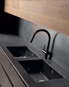 Cement kitchen with island WIND ETA NOIR CEMENT - TONCELLI CUCINE