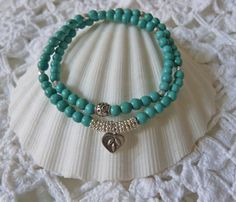beachcomber  double wrap turquoise  sterling by beachcomberhome, $22.00