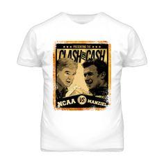 NCAA vs Johnny Manziel Vintage Fight Poster T Shirt