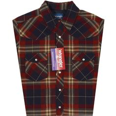 Mens Wrangler Quilted Flannel Plaid Shirt - Asst Colors | AA Callister