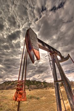 A pump jack in a Texas oilfield via Oilfield Imaging #mcgenergy #production