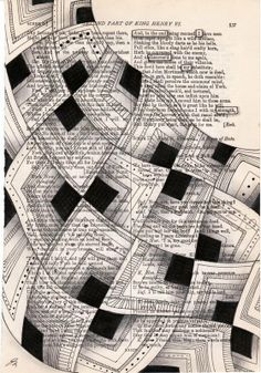 I am liking the idea of students cutting apart a text, creating a new image and then doing their black out poetry!