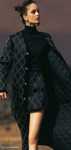 Quilted skirt suit for cold weather. I love this! x                                                                                                                                                                                 More