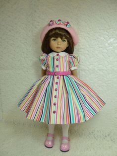 "Yipes Stripes Outfit for 13"" Little Darling Doll by Effner by Apple. SOLD BIN for $65.95 on 1/31/15"
