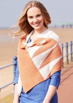 This asymmetric triangular wrap is worked in garter st, using intarsia and twist stitches to create the sails pattern. Wrap Pattern, French Riviera, Ravelry, Shawl, Turtle Neck, Pullover, Stitch, Silk, Knitting