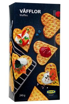 We Have Some New Fave Ikea Products & They Might Surprise You #refinery29  http://www.refinery29.com/best-ikea-food#slide-16  Frozen WafflesThese delicate heart-shaped frozen waffles are out of this world. Make them sweet and top them with fruit and whipped cream. Or, make them savory and top a few with fried chicken strips and hot sauce. ...
