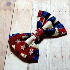 Patriotic 4th of July Fabric Hair Bow, Baby Toddler Girl Woman Hair Bow, Printed Patriotic Fabric hair Bow, independence Day Boy Bowties by CzechOutMyBows on Etsy