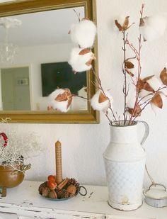 DIY Baumwollblüten aus Wattebällchen
