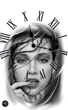Tatuagem de relogio Chicano Art, Chicano Tattoos, Clock Face Tattoo, Clock Tattoo Design, Tattoo Designs, Body Art Tattoos, Sleeve Tattoos, Cool Tattoos, Tattoo Studio