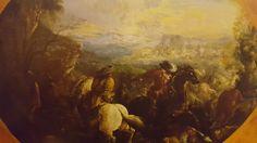 FRANCESCO MARIA RANIERI called LO SCHIVENOGLIA ( Schinevoglia 1676 - Mantua 1758). BATTLE WITH EDGED WEAPONS. oil on canvas. 67,5 × 91 cm. ovale. Tornabuoni Arte. Florence. Olds Paintings. September 2015.