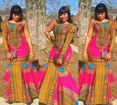 African Mermaid dress, Dashiki gown, African gown dress, Ankara wedding dress, P. African Dashiki, African Fashion Ankara, African Inspired Fashion, African Print Fashion, Africa Fashion, Ethnic Fashion, African Prints, Ghanaian Fashion, Modern Fashion