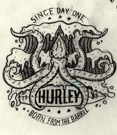Unused concept for my pals at @hurley. Squids rule.