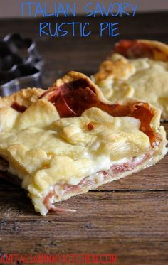 Italian Savory Rustic Pie is the perfect main dish or appetizer. A delicious double creamy filling of prosciutto, Gruyere and a little white sauce, gone in minutes/anitalianinmykitchen.com
