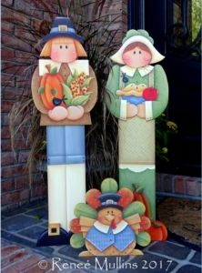 Thanksgiving couple and turkey porch sitters to paint Thanksgiving Wood Crafts, Holiday Wood Crafts, Autumn Crafts, Thanksgiving Decorations, Halloween Crafts, Thanksgiving Food, Arte Country, Pintura Country, Autumn Painting