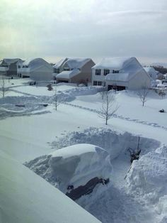 Buffalo, New York: 75 inches of snow