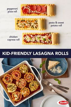 Customize your family dinner with these fun lasagna ideas! Save this guide featuring tomato sauce, basil pesto and an array of protein and veggies for an easy family dinner.
