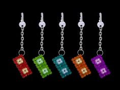 How To Make A Crystal Beaded Keychain At Home : DIY Tutorials - YouTube