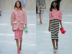 Fifi chooses Burberry for day AND night - I am loving the pink (day ) look!