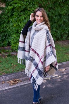 Glencoe Tartan Poncho Free Crochet Pattern by Hopeful Honey Hopeful Honey, Ravelry, All Free Crochet, Crochet Tops, Crochet Shawl, Crochet Edgings, Crochet Motif, Crochet Baby Poncho, Crochet Vests