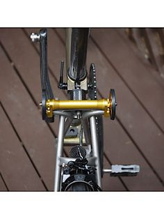 Easy wheel Extender Bar for Brompton Bicycle easy pulling Roll Extension upgrade