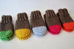Babywantjes haken - crochet babymittens