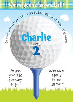 Golf Birthday Party Invitation for kids by TBoneSquid on Etsy, $15.00