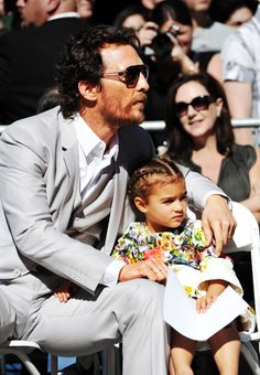 Matthew and Vida at his star ceremony for the Hollywood Walk of Fame, Types Of Braids, Two Braids, Braids For Kids, Matthew Mcconaughey, Cool Braid Hairstyles, Girl Hairstyles, Braid Styles For Girls, Childrens Hairstyles, Hollywood Walk Of Fame