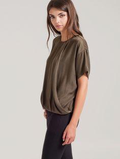 Fluid Drape T-Shirt | Press Fashions Canada