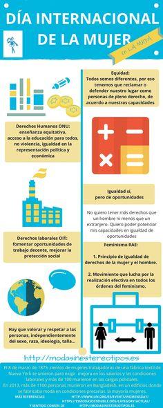 #diadelamujer Infografía del día de la mujer trabajadora. Cómo la historia de la industria textil marcó el 8 de marzo. Lo que hay que defender es a las personas y darles todas las oportunidades.