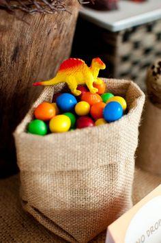 Boys Dinosaur Themed Birthday Party Candy dessert ideas