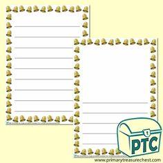 FREE Christmas Eve Jingle Printables - Worldwide Christmas Eve Jingle - Primary Treasure Chest Ourselves Topic, Page Borders, Treasure Chest, Christmas Eve, Bullet Journal, Printables, Activities, Writing, Frame