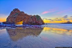 Pfeiffer Beach, California (not to be confused with other nearby beaches in Julia Pfeiffer Burns State Park)