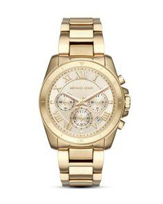 bff8135e211 Chonograph Brecken MK6366 MICHAEL KORS gold Neue Uhren, Armband Leder,  Luxus Uhren, Armbanduhr