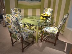 Designmaster Furniture's upholstered Hollister (01-422) dining room chairs.
