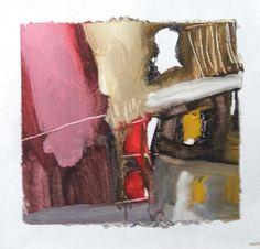 """Esencia.  Entre el Alma y la piel  Proyecto """"En Esencia"""" Pigmento, resina / lienzo 15×15 Proceso aditivo en un único sentido; negro, rojo, ocre, blanco."""
